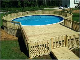above ground pool decks used for