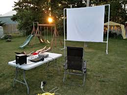 masterly plus outdoor projector screen on a steps 12 diy backyard