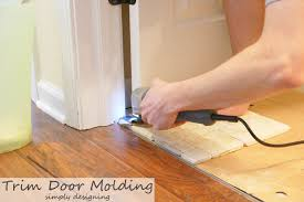 how to trim door frames for floor installation tile installation part 2