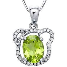 vine cat face pendant necklace enriched with peridot gemstone 18