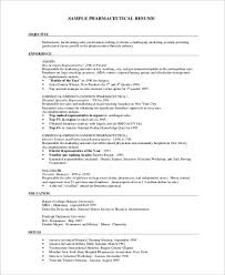 7 Sample Pharmaceutical Sales Resumes Sample Templates