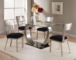 acme acme camille glass top dining table with metal base 10090 regard to plan 15