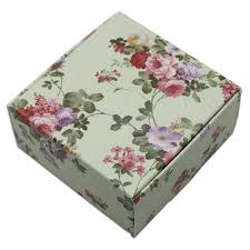 Floral Design Gift Boxes 50pcs Lot Small Square Cardboard Gift Boxes Packaging Floral