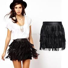 2019 whole new summer high waisted skirts womens faldas las vintage faux leather tassel fringe skirt saia feminina plus size yb370 from 2016