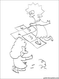 Kleurplaat Simpson Meisjes Spelen Gratis Kleurplaten