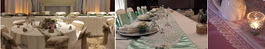Burlap Round Table Overlays Linens Aglow Bridal Lounge
