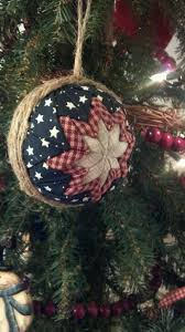 Inspiration for quilted Styrofoam ball ornament - Great for ... & Inspiration for quilted Styrofoam ball ornament - Great for Primitive tree  (There are several links Adamdwight.com