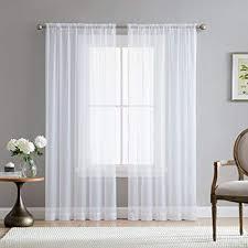 Curtains for picture window Bath Image Unavailable Amazoncom Amazoncom Hlcme White 54