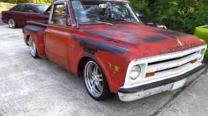 Bagged c10 rat truck ratrod - YouTube
