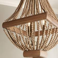 classic wood bead chandelier shades of light ideas for you