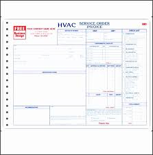 custom service invoices hvac invoice templates 6 free word excel pdf format download