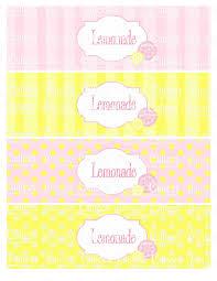 Pink Lemonade Designs Pink Lemonade Digital Water Bottle Labels Lemonade And Blank