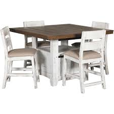 white counter height table. Picture Of Pueblo White Counter Height 5 Piece Set Table