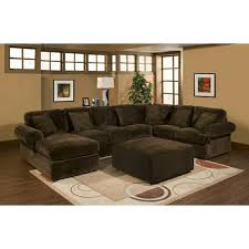 3 pc sectional sofa with chocolate