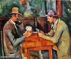 the card players oil painting