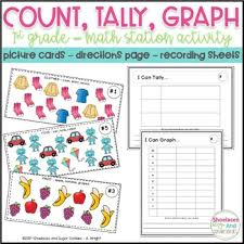 Online Tally Chart Counter Count Tally Graph A First Grade Math Station Activity