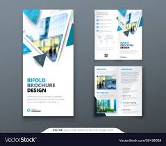 How To Design A Bifold Brochure Bifold Brochure Design Blue Template For Bi Fold