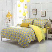 Yellow Gary with Pair Print Women's Teenager's Bedding Set Duvet Cover King  Queen Full Size #