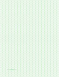 Isometric Graph Paper Orthographic Graph Paper Print