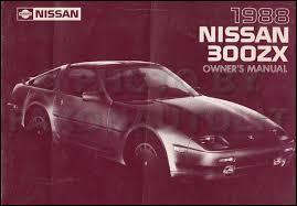 1988 nissan 300zx wiring diagram manual original 1988 nissan 300zx owner s manual original