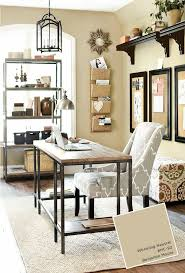 grey home office. Grey And Beige Home Office With Black Accents Wheeling Neutral Paint By Benjamin Moore