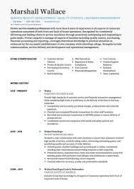 Restaurants Resume Examples Waiter Waitress Cv Example Resume Skills Cv Examples
