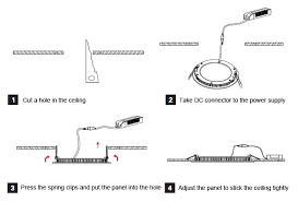 recessed led panel light installation guide