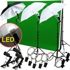 led photo studio lighting photography 3 backdrop stand muslin light kit umbrella