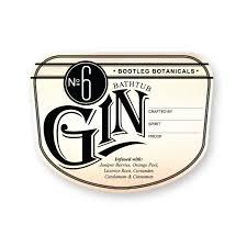 bootleg botanicals bathtub gin no 6 bottle label