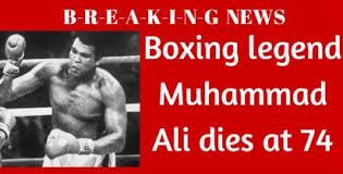 「Muhammad Ali death newspaper」の画像検索結果