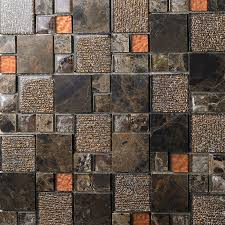 brown crystal glass mosaic tile natural marble tile stone tiles free wall backspalshes bedroom washroom kitchen decorative sblt632