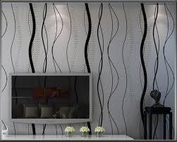 Beibehang Moderne Eenvoudige Zwart Grijs Golvend Behang Verticale