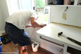 how to install a countertop super thrifty kitchen makeover at 7 installing granite countertop on ikea