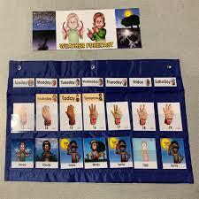 Chart Kit Chart Kits Asl English Bilingual Bicultural Weather Forecast Chart Kit