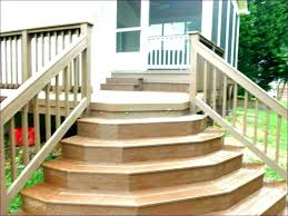 how to build deck stairs installing stair railing posts outdoor with landing