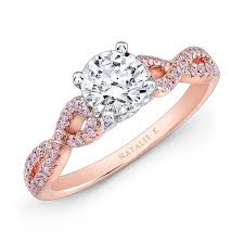 rose gold wedding rings. 18k white and rose gold twisted shank pink diamond engagement ring wedding rings h
