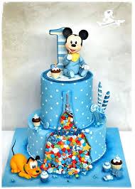 Baby Mickey Mouse 1st Birthday Cake First Birthday Cake Boy Mickey