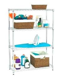 hdx plastic shelving plastic ventilated storage shelving unit full image for 4 shelf storage unit in