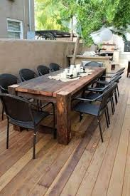 modern wooden outdoor furniture. Maybe Something Like This For The Patio When We Have A Family Meal:  Beautiful Wooden Table. Modern Outdoor Furniture