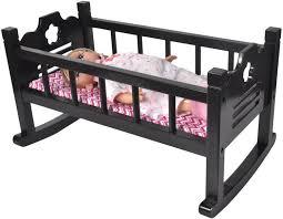 wooden baby doll cradle set wooden rocking cradle for dolls ojcommerce