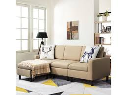 waleaf convertible sectional sofa with