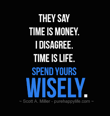 Quote Life Gorgeous Life Quote They Say Time Is Money I Disagree Time Is Life Spend