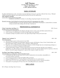 Accomplished Sales Representative Resume Using Contact Information