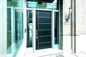 contemporary double front doors with glass external modern entry