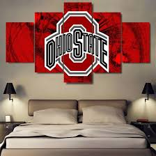 large framed ohio state buckeyes canvas print home decor wall art five piece 1 of 5only 2 available
