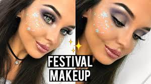 festival glitter makeup tutorial 2017 katesbeautystation