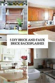 Brick Backsplash Kitchen Kitchen 07 Brick Backsplash Design For Kitchens Homebnc Kitchen