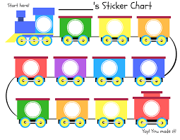 Sticker Charts For Preschoolers Train Reward Charts Toddlers