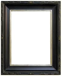 black picture frame. Lanigan Black And Silver Plenair Style Frame Picture E