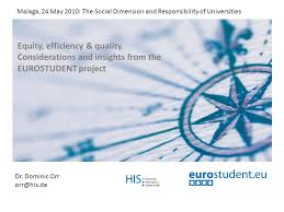 Dr. Dominic Orr Project coordination 1 Equity, efficiency & quality.  Considerations and insights from the EUROSTUDENT project Malaga, - ppt  download